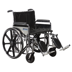 STD20DFA-ELR - Drive MedicalSentra Extra Heavy Duty Wheelchair