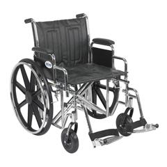 STD20ECDDAHD-SF - Drive MedicalSentra EC Heavy Duty Wheelchair w/Detachable Desk Arms & Swing Away Footrest