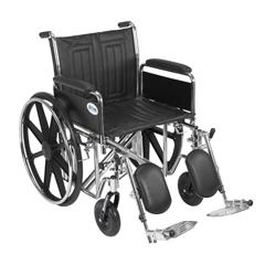 STD20ECDFAHD-ELR - Drive Medical - Sentra EC Heavy Duty Wheelchair, Detachable Full Arms, Elevating Leg Rests, 20 Seat
