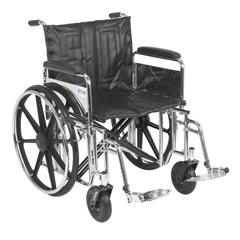 STD22DFA-SF - Drive MedicalSentra Extra Heavy Duty Wheelchair w/Detachable Full Arms & Swing Away Footrest