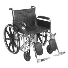 STD22ECDFA-ELR - Drive MedicalSentra EC Heavy Duty Wheelchair w/Detachable Full Arms & Elevating Leg Rest