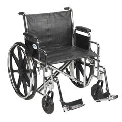 STD24ECDDA-SF - Drive MedicalSentra EC Heavy Duty Wheelchair