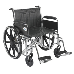 STD24ECDFA-SF - Drive MedicalSentra EC Heavy Duty Wheelchair