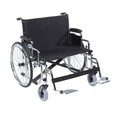 DRVSTD26ECDDA-SF - Drive MedicalSentra EC Heavy Duty Extra Wide Wheelchair