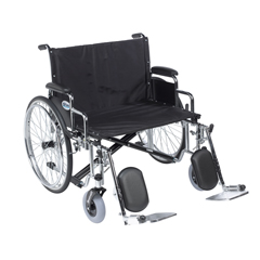 DRVSTD28ECDDA-ELR - Drive Medical - Sentra EC Heavy Duty Extra Wide Wheelchair, Detachable Desk Arms, Elevating Leg Rests, 28 Seat