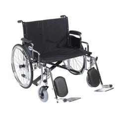 DRVSTD28ECDDA-ELR - Drive MedicalSentra EC Heavy Duty Extra Wide Wheelchair