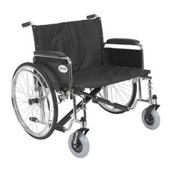 STD28ECDFA - Drive Medical - Sentra EC Heavy Duty Extra Wide Wheelchair, Detachable Full Arms, 28 Seat