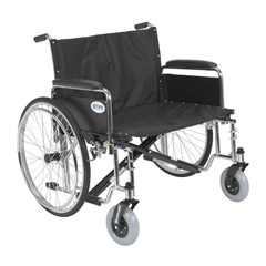 STD30ECDFA - Drive Medical - Sentra EC Heavy Duty Extra Wide Wheelchair, Detachable Full Arms, 30 Seat