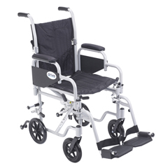 TR16 - Drive MedicalPoly Fly Light Weight Transport Chair Wheelchair with Swing away Footrest
