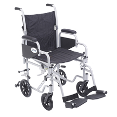 TR18 - Drive MedicalPoly Fly Light Weight Transport Chair Wheelchair with Swing away Footrest
