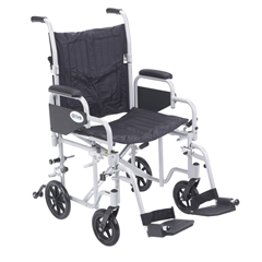 TR20 - Drive MedicalPoly Fly Light Weight Transport Chair Wheelchair with Swing away Footrest