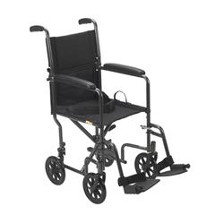 TR39E-SV - Drive MedicalLightweight Steel Transport Wheelchair
