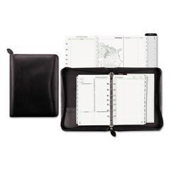 DTM41745 - Recycled Bonded Leather Starter Set, 8 1/2 x 5 1/2, Black Cover