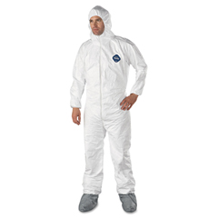 DUPTY122SXL - DuPont® Tyvek® Elastic-Cuff Hooded Coveralls With Attached Boots