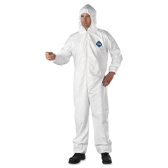 DUPTY127S2XL - DuPont® Tyvek® Elastic-Cuff Hooded Coveralls