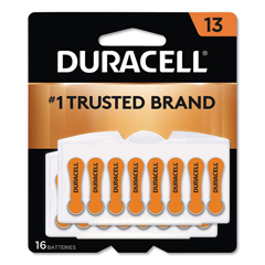 DURDA13B16ZM09 - Duracell® Button Cell Hearing Aid Battery #13