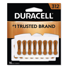 DURDA312B16ZM09 - Duracell® Button Cell Hearing Aid Battery #312