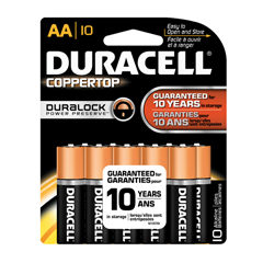DURMN1500B10Z - Duracell® Coppertop® Alkaline Batteries