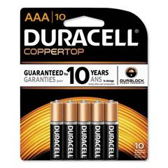 DURMN2400B10Z - Duracell® Coppertop® Alkaline AAA Batteries