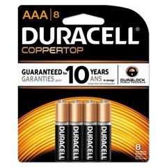 DURMN2400B8ZCT - Duracell® CopperTop® Alkaline Batteries with Duralock Power Preserve™ Technology