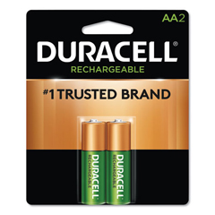 DURNLAA2BCD - Duracell® Rechargeable NiMH Batteries with Duralock Power Preserve™ Technology