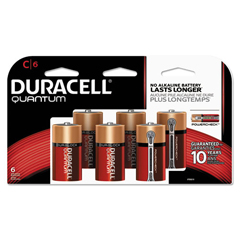 DURQUC6TBCD - Duracell® Quantum Alkaline Batteries with Duralock Power Preserve™ Technology