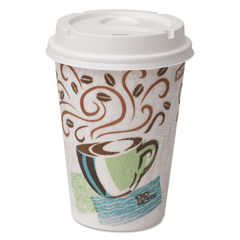 DXE5342COMBO6CT - Dixie PerfecTouch® Paper Hot Cups Lids Combo