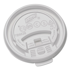 DXETB9538X - Dixie® Hot Drink Cups Tear Back Plastic Lids for Dixie Sage™ Collection