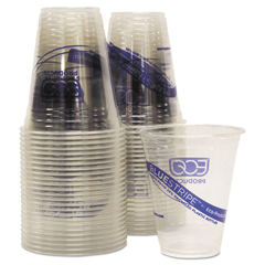 ECOEPCR12PK - Eco-Products® BlueStripe™ Recycled Content Clear Plastic Cold Drink Cups