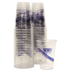 ECOEPCR16PK - Eco-Products® BlueStripe™ Recycled Content Clear Plastic Cold Drink Cups