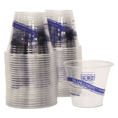 ECOEPCR9PK - Eco-Products® BlueStripe™ Recycled Content Clear Plastic Cold Drink Cups