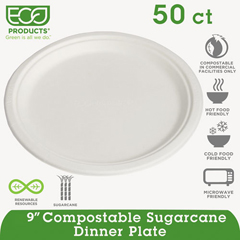ECOEPP013PKCT - Eco-Products® Sugarcane Dinnerware