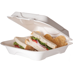 ECPEP-HC91 - Bagasse Hinged Clamshell Containers