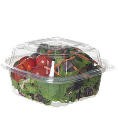 ECPEPLC6 - Clear Clamshell Hinged Food Containers