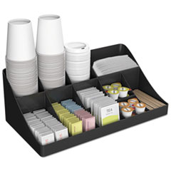 EMSCOMORGBLK - Mind Reader 11-Compartment Coffee Condiment Organizer