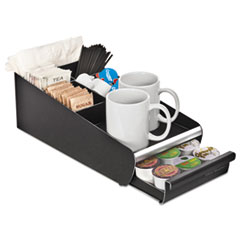 EMSORG01BLK - Mind Reader Vesta Condiment Organizer With Single-Serve Cup Drawer
