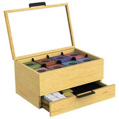 EMSWTORGBRN - Mind Reader Tea Condiment and Accessory Organizer