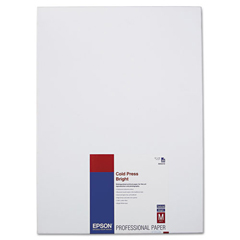EPSS042310 - Epson® Cold Press Bright Fine Art Paper