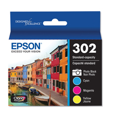EPST302520S - Epson® T302 Standard-Capacity Ink Cartridges