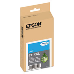 EPST711XXL220 - Epson T711XXL220 High-Yield Ink, 3400 Page-Yield, Cyan