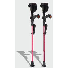 ERXA010 - Ergoactives - Ergobaum Junior Forearm Crutches 1 Pair- Pink (39 to 5)