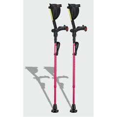 ERXA004 - Ergoactives - Ergobaum 7G Shock Absorber Forearm Crutches, 1 Pair, Pink (5 to 66)