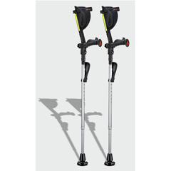 ERXA007 - Ergoactives - Ergobaum 7G Shock Absorber Forearm Crutches, 1 Pair, Gray (5 to 66)