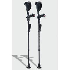 ERXA021 - Ergoactives - Ergobaum Black Mamba Carbon Fiber Crutches 1 Pair- Real Carbon Fiber(5 to 66)