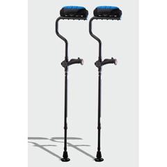 ERXA037 - Ergoactives - Ergobaum Dual Underarm Double Shock Absorber Crutches 1 Pair- Black (5 to 66)