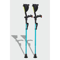 ERXA047 - Ergoactives - Ergobaum 7G Shock Absorber Forearm Crutches, 1 Pair, Aqua Blue (5 to 66)