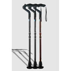 ERXA048 - Ergoactives - Ergocane 2G Shock Absorber Walking Cane One-Size-Fits-All - Black