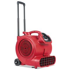 EURSC6057A - DRY TIME Air Mover with Wheels and Handle, 1281 cfm, Red, 20 ft Cord
