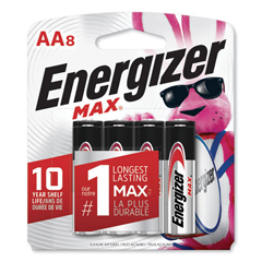 EVEE91MP8 - Energizer® MAX® Alkaline Batteries