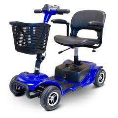 EWH EW-M34-BLUE - EWheels - Medical (EW-M34) 4-Wheel Portable Travel Scooter, Blue